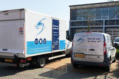 Wasserij-A&X-vrachtwagen-auto